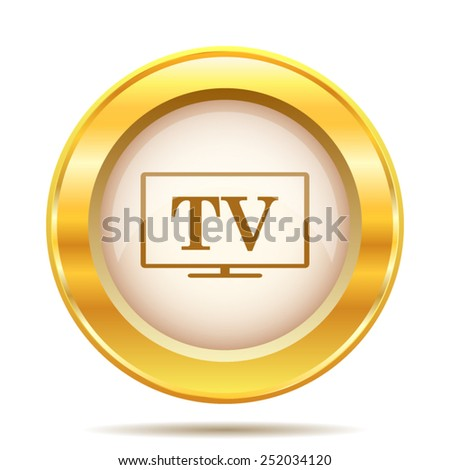 TV icon. Internet button on white background. EPS10 vector.  - stock vector