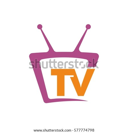 tv icon logo design