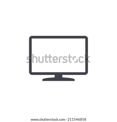 TV icon , vector illustration - stock vector