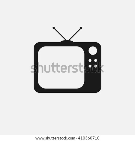 tv icon vector, solid illustration, pictogram isolated on white - stock vector