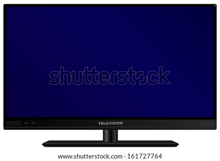 TV - Illustration of Fictitious Modern Television Isolated on White Background - stock vector
