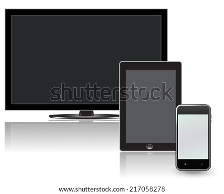 Tv, lcd, tablet, phone - stock vector