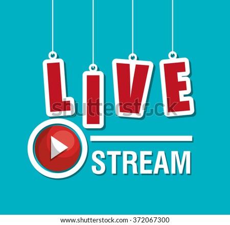 TV live stream - stock vector