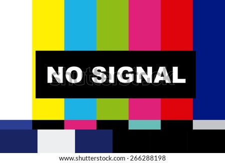 tv no signal design,vector illustration eps10 graphic - stock vector