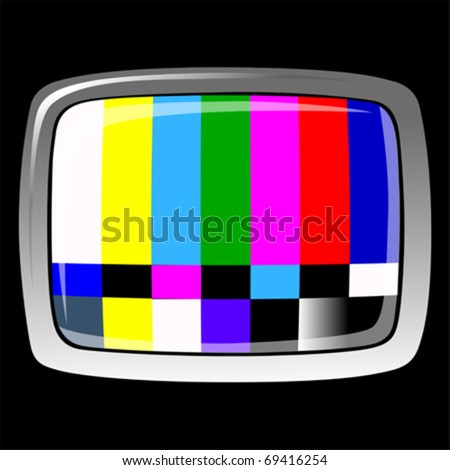 tv - NTSC signal , VECTOR - stock vector