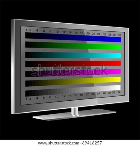 tv - NTSC signal , VECTOR - stock vector