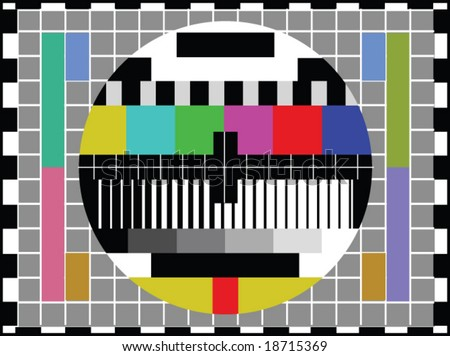 tv screen - stock vector