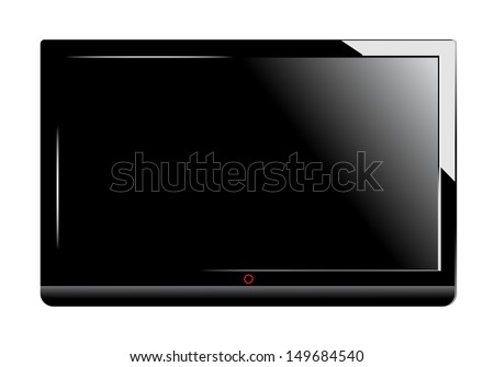 TV Screen - Isolated On White Background - Vector Illustration, Graphic Design Editable For Your Design. - stock vector
