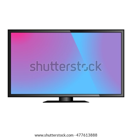 TV screen lcd monitor template vector illustration
