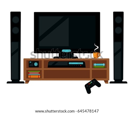 TV set with gamepad