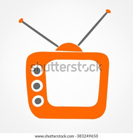 Tv symbol vector illustration - stock vector