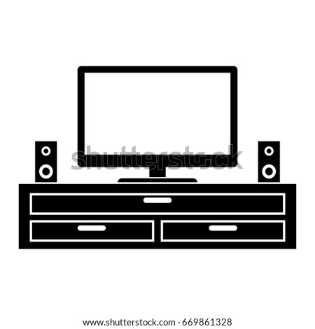 TV table vector for artwork