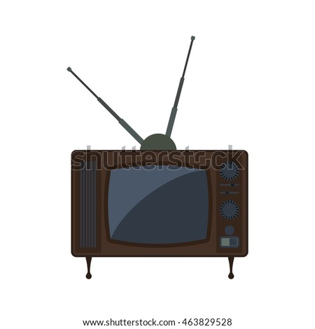 Tv technology retro vintage icon. Isolated and flat illustration. Vector graphic
