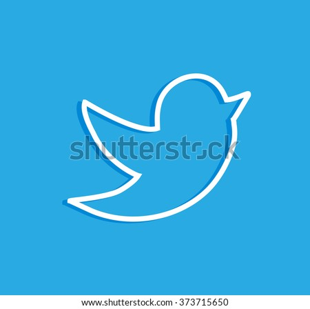 tweet bird vector logo jpg jpeg stock vector royalty free