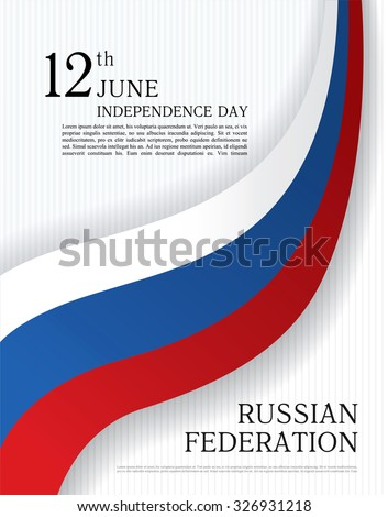Day russian federation with the