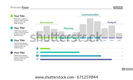 Vertical Triangle Bar Chart Template Stock Vector
