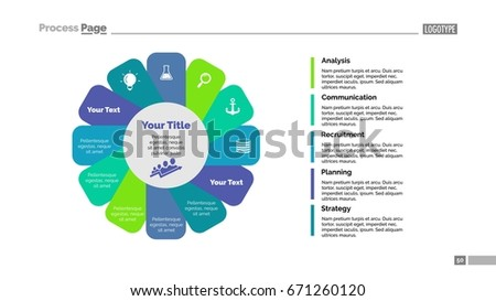 Twelve Petals Slide Template Stock Vector 671260120 - Shutterstock