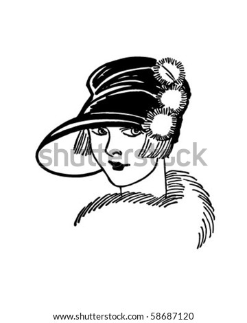 Twenties Gal - Retro Clip Art - stock vector