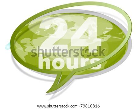 twenty hours concept - stock vector