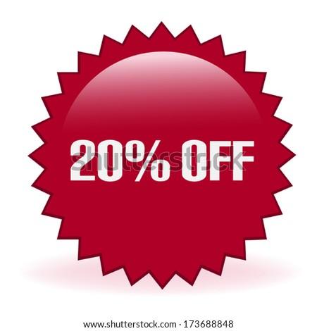 Twenty Percent Discount Sticker - stock vector