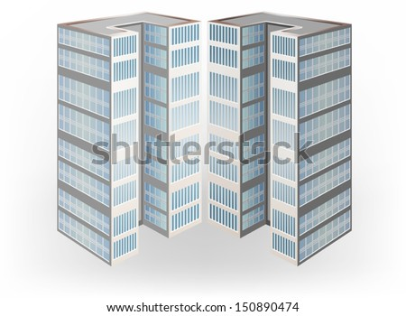 Twins condominium vector on a white background