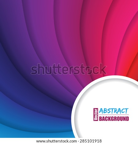 Twirling rainbow background design with  text container - stock vector