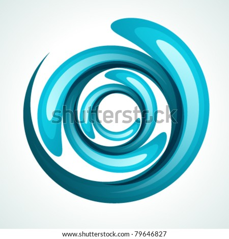 Twist shiny water bubbles. Vector background Eps 10. - stock vector