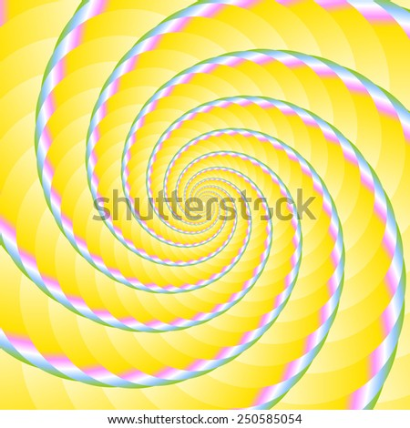 Twisted and ribbed spiral in fresh spring colors on background - stock vector