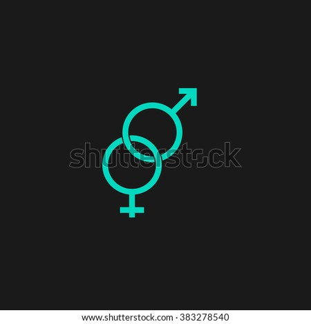 Twisted Male Female Sex Symbol Flat Stock Vector Royalty Free