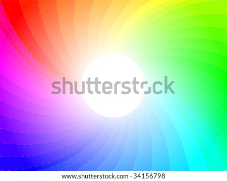 Twisted rainbow. - stock vector
