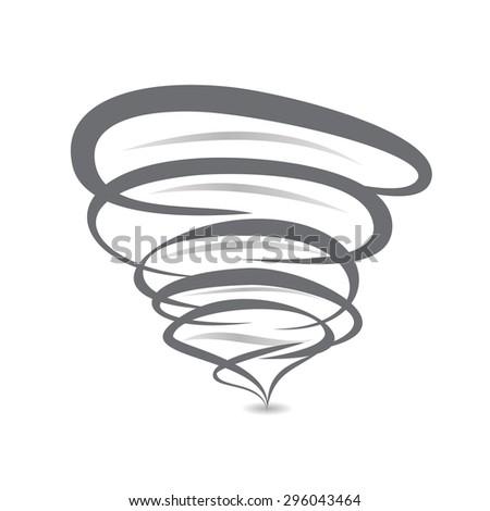 twister symbol vector sign of tornado spiral - stock vector