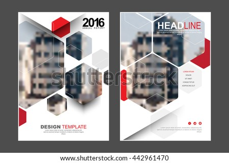 Two A4 size, abstract hexagon polygon frame elements marketing business corporate design template. eps10 vector - stock vector