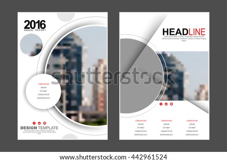 Two A4 size, abstract rounded geometric shape elements marketing business corporate design template. eps10 vector - stock vector