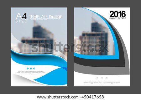 Two A4 size, geometric elements annual report marketing business corporate design template. eps10 vector - stock vector