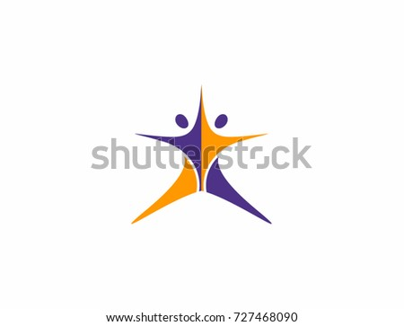 Two abstract people dance company logo vectores en stock 727468090 two abstract people dance company logo print digital icon apps malvernweather Image collections
