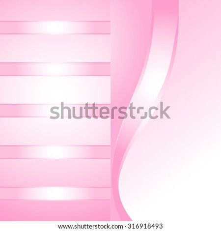 Two abstract pink background with ribbons for your design, templates, standard-sized cards.