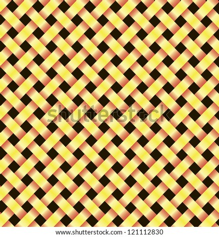 two abstract yellow lines on a black background - stock vector