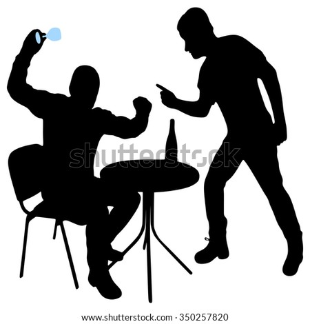 two angry man  - stock vector
