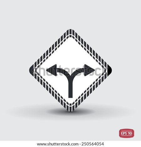 Two arrows. Left or right direction. Flat design style. Made vector illustration - stock vector