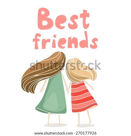 Two Best Friends Holding Hands Stock Photo (Photo, Vector ...