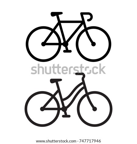 Simple bicycle illustration - photo#34