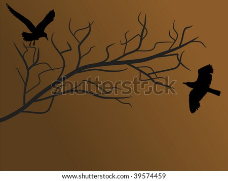 Two birds on the branch