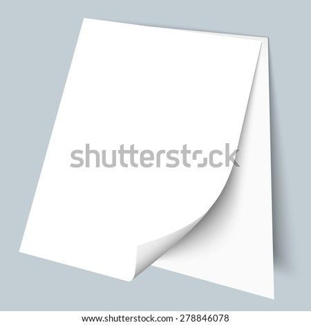 Two blank sheets of paper. Vector EPS10 - stock vector