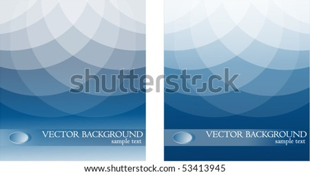 Two Blue Vector Background - stock vector