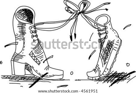 Two boots vector illustration.
