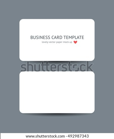 Two business cards round corners template stock vector royalty free two business cards with round corners template mockup isolated on dark gray background realistic vector reheart Image collections