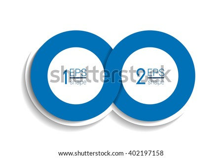 Two Business Elements Banner Template 2 Stock Vector 400193605