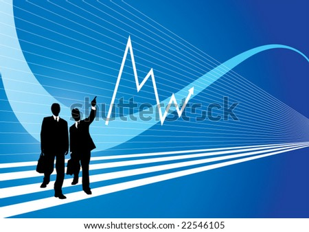 two businessman - stock vector