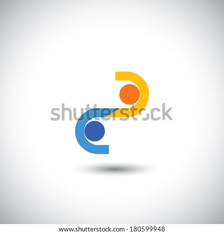 two businessmen closing a business deal with handshake - concept vector. This graphic also represents employees greeting each other, business hand shake, executives meeting, business transaction - stock vector