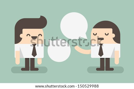 Two businessmen discussing - stock vector